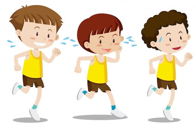 Um conjunto de meninos exercício