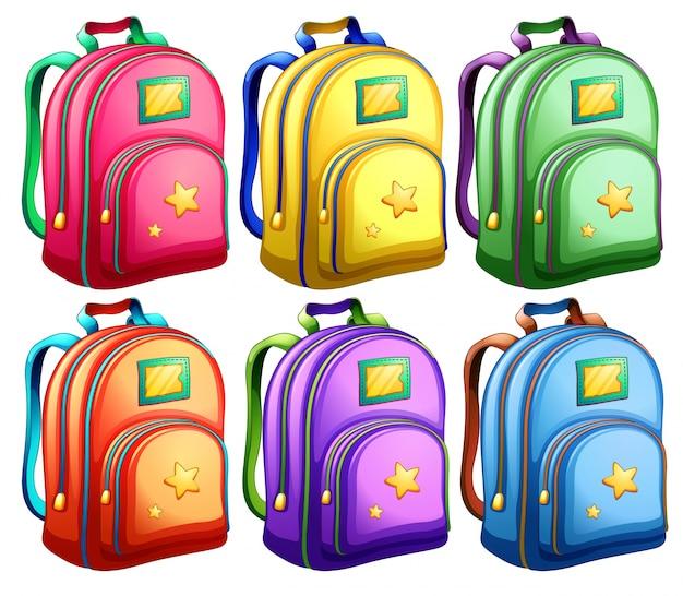 Um conjunto de mochilas