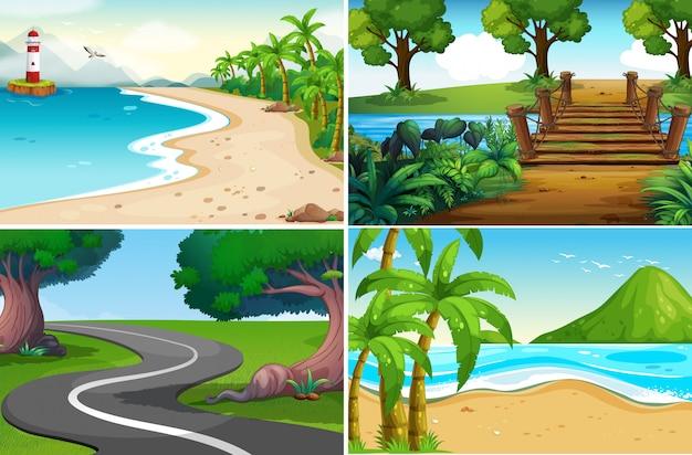 Um conjunto de natureza paisagem