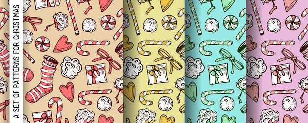 Um conjunto de padrões para o natal.