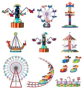 Um conjunto de parques de diversões