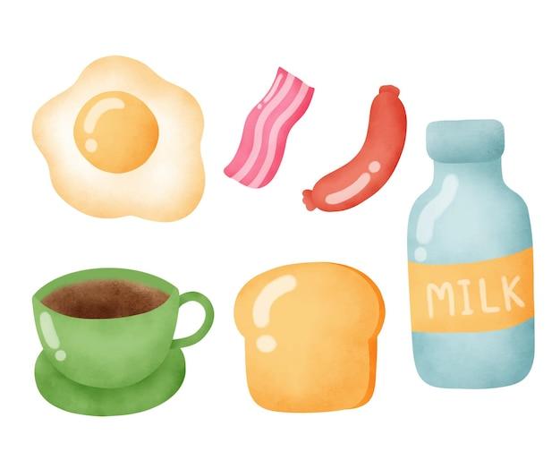 Um conjunto de pequeno-almoço americano.