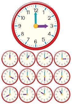 Um conjunto de relógio e tempo