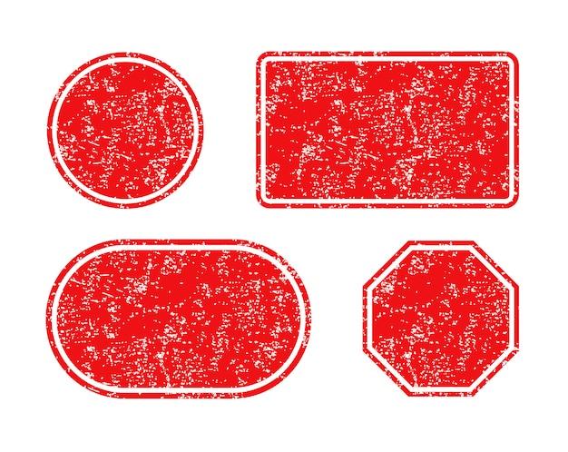Um conjunto de selos vazios
