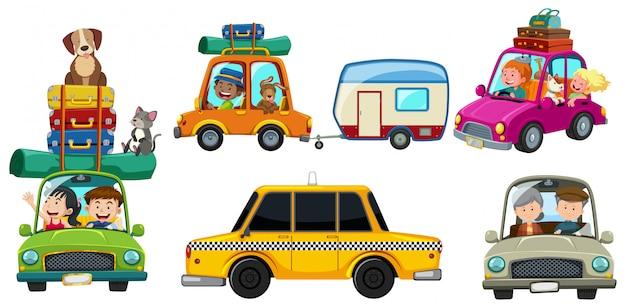 Um conjunto de viagem de carro
