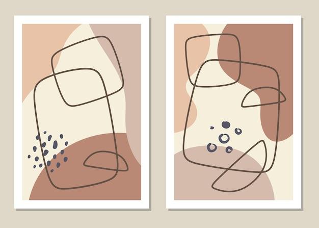 Um conjunto moderno de formas geométricas abstratas em um estilo minimalista