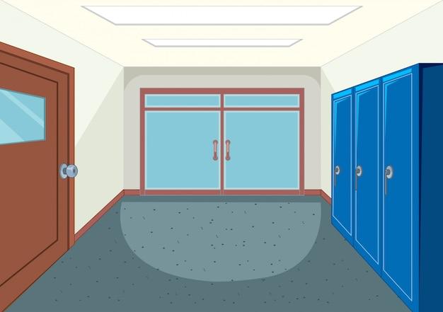 Um corredor da escola de design