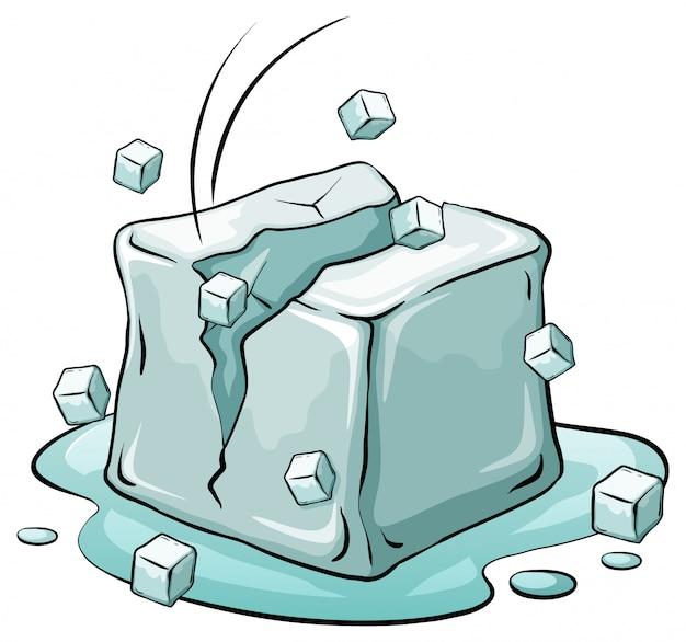 Um cubo de gelo