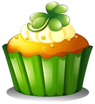 Um cupcake para o dia de são patrício