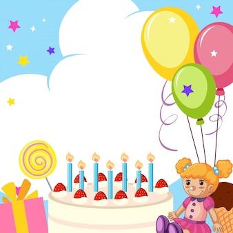 Um, cute, cartão aniversário