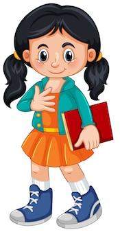 Um, cute, menina, personagem