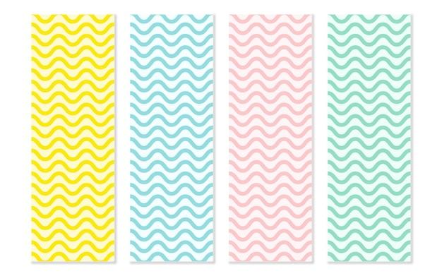 Um desenho de fundo de padrão de onda simples