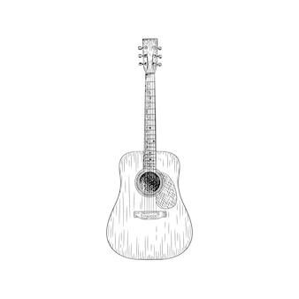 Um desenho de vetor de ilustração de guitarra