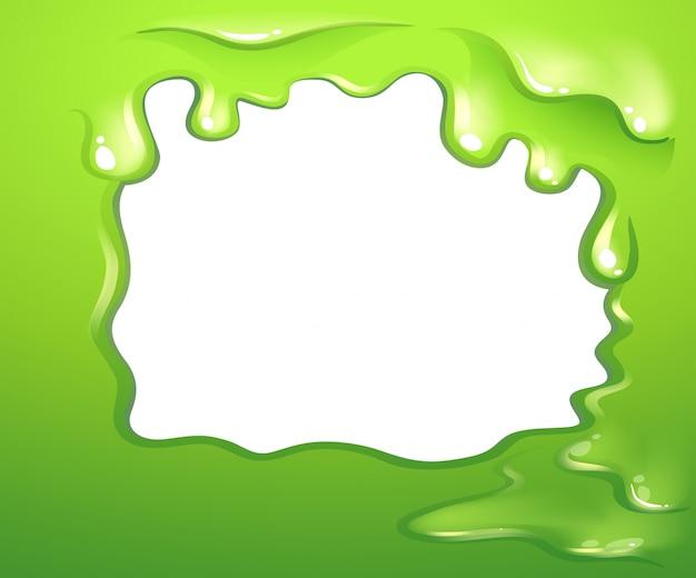 Um design de borda verde