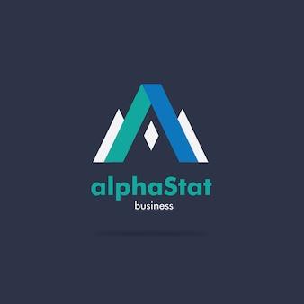Um design de logotipo de negócios corporativos de forma