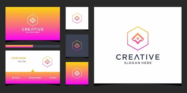 Um design de logotipo para casa