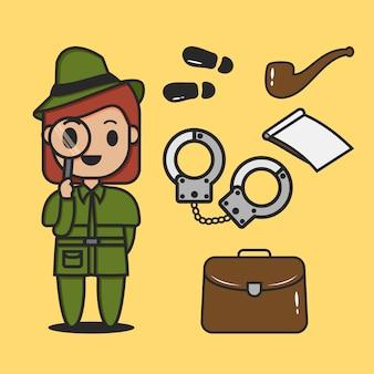 Um detetive com uma lupa