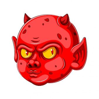 Um, diabo bebê, caricatura, personagem