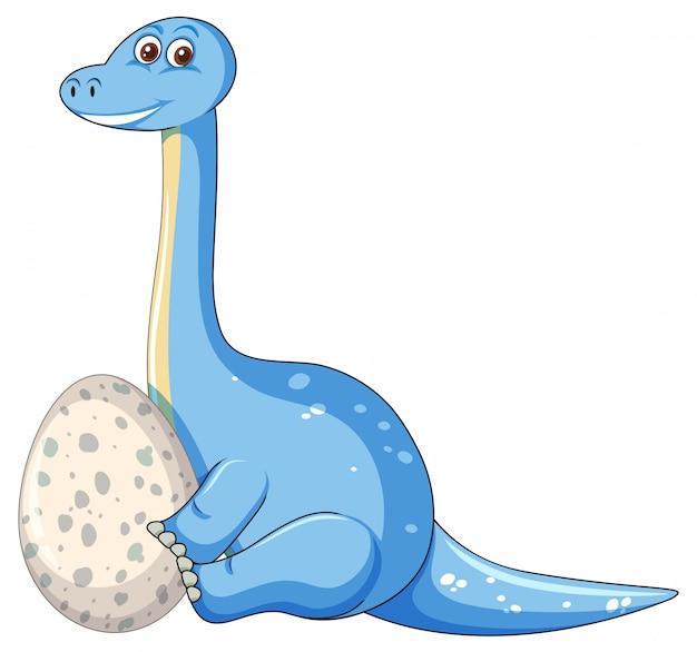 Um dinossauro e ovo