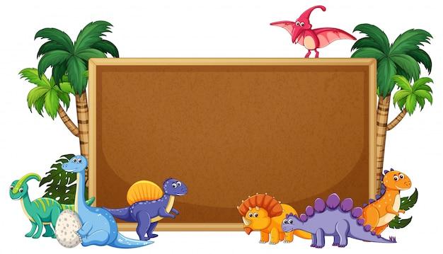 Um dinossauro no quadro de avisos