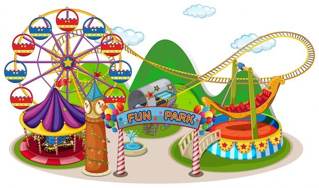 Um divertido parque e passeio