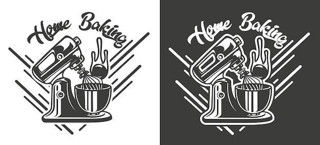 Um emblema vintage com o tema da padaria artesanal. vetor