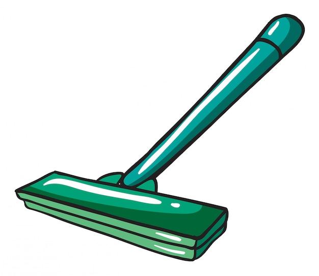Um esfregão verde
