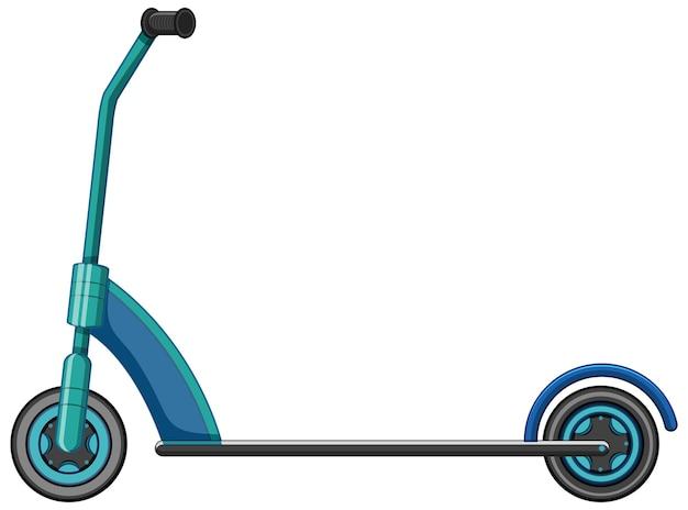 Um estilo de desenho animado de scooter chute isolado no branco