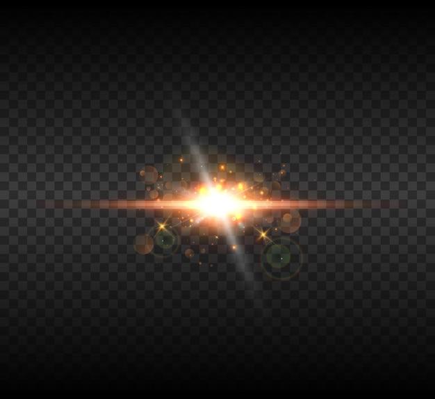 Um flash brilhante de luz tremeluzindo.