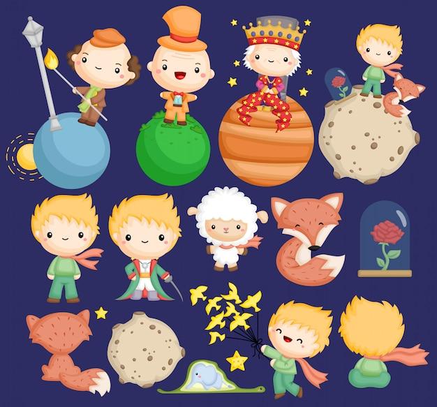 Um fofo das pequenas histórias do príncipe