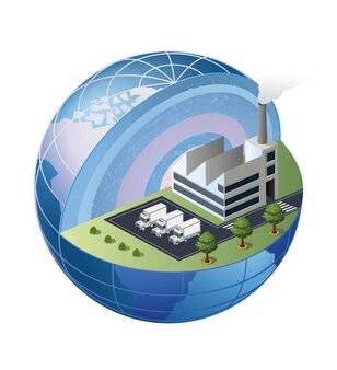 Um fragmento da fábrica está localizado na área do globo
