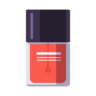 Um frasco de esmalte. ferramentas de manicure. cuidando da saúde das mãos