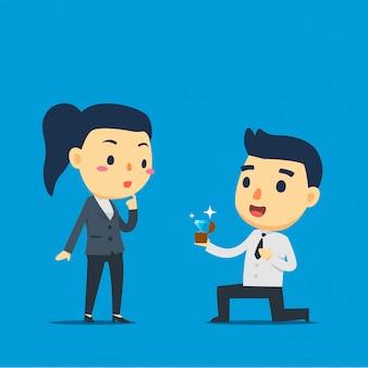 Um funcionário está propondo seu parceiro