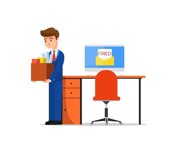 Um funcionário sendo demitido por correio eletrônico