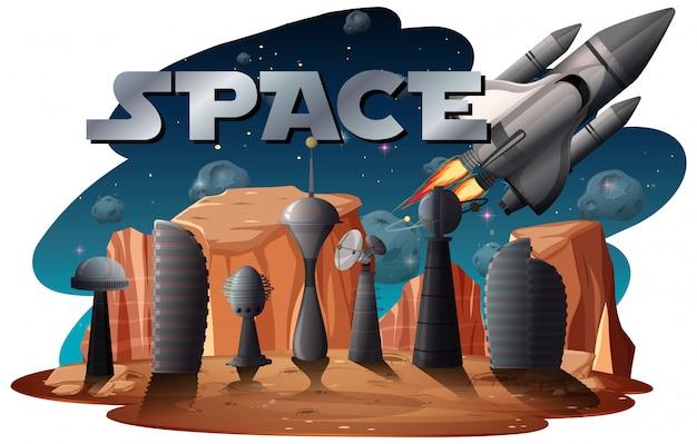 Um fundo de cena espacial