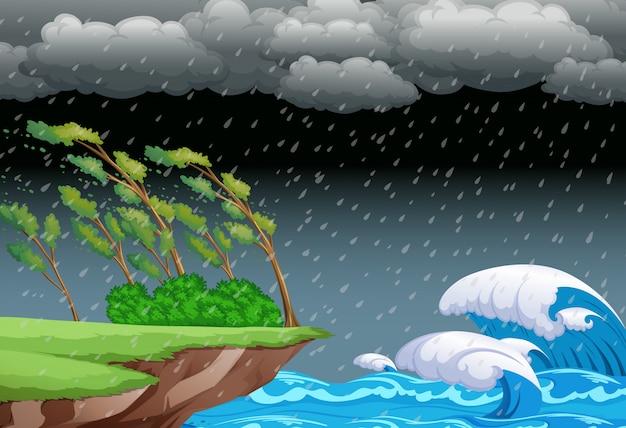 Um fundo de noite tempestuosa