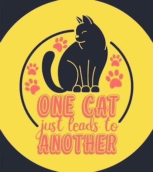 Um gato apenas leva a outro