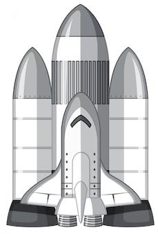 Um grande foguete de transporte