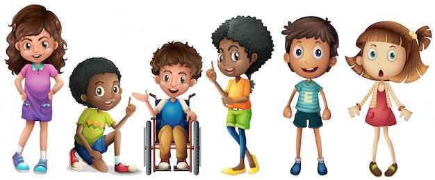 Um grupo de crianças