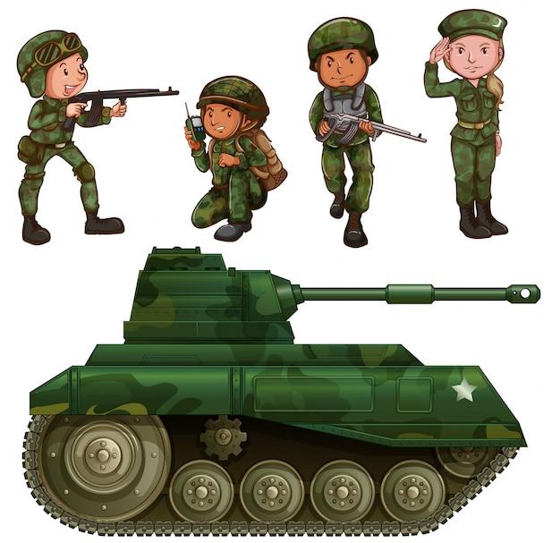 Um grupo de soldados