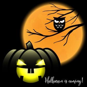 Um halloween jack o lantern com o halloween é texto que vem.
