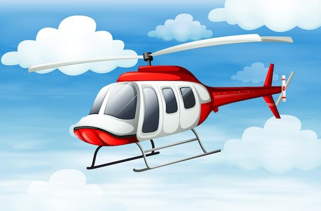 Um helicóptero voando