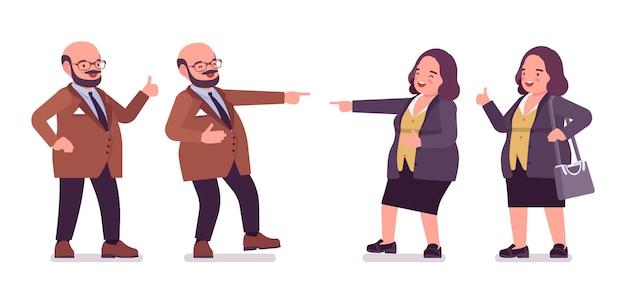 Um homem gordinho e positivo e uma mulher curvilínea feliz se divertindo