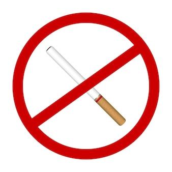 Um ícone de cigarro não fumo assina vector