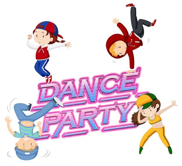 Um ícone de festa de dança