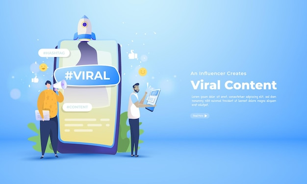 Um influenciador cria e promove um conteúdo viral nas redes sociais