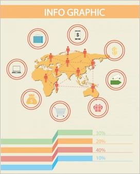 Um infográfico das pessoas