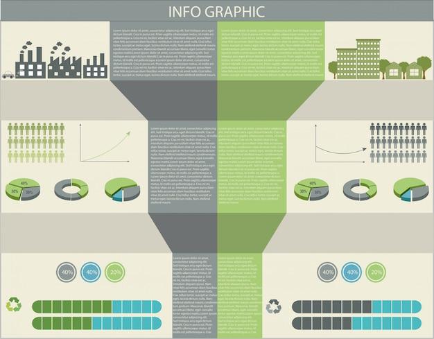 Um infográfico de humanos e meio ambiente