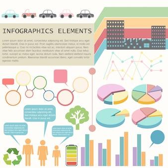 Um infográfico mostrando os veículos e os seres humanos