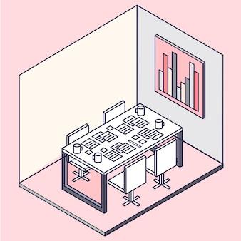 Um interior de escritório moderno